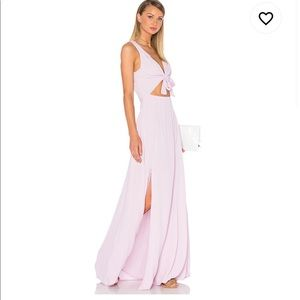 Privacy Please pink cutout maxi dress